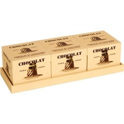 SET 3 CAJAS EN BANDEJA CHOCOLAT 47.5X17X3CM