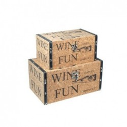 Baul Set de 2 Unidades Retro Wine 30 cm