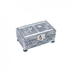 Caja Rectangular Aluminio elefantes 13 cm