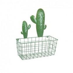 Cesta Pared Metal Cactus 40 cm