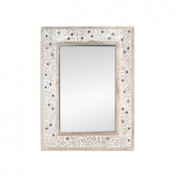 Espejo Pared Decorado Madera 60x45 cm