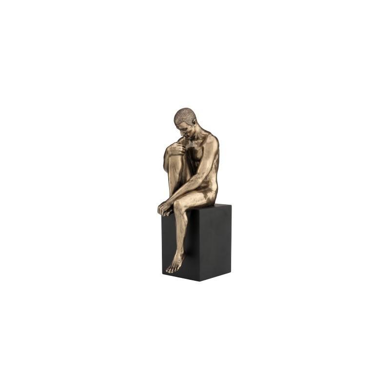 Figura Clasica Resina Hombre Desnudo 20 cm