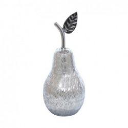 Figura Decorativa Aluminio Pera 22 cm