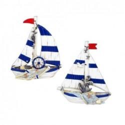 Figura Decorativa x2 Barco 16 cm