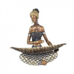 Figura Resina Africana 37 cm