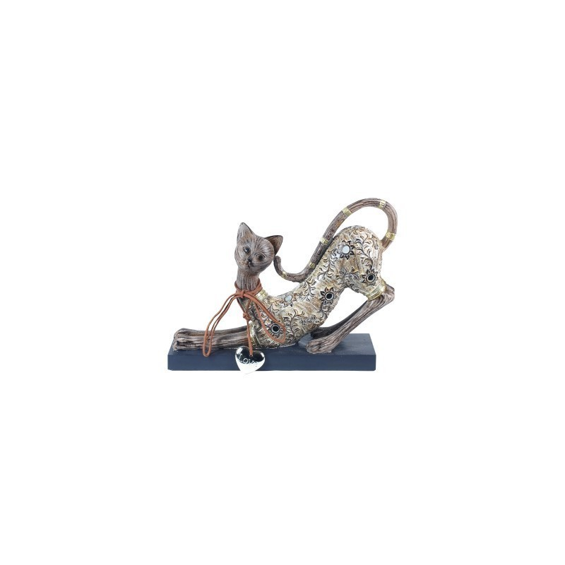 Figura Resina Gato 25 cm