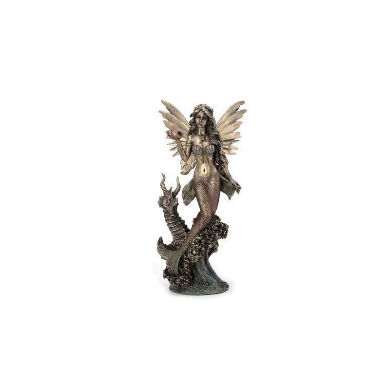 Figura Resina Sirena 26 cm