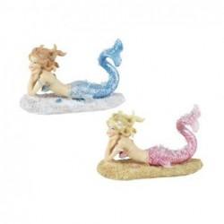 Figura Resina x2 Sirena 11 cm