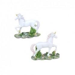 Figura Resina x2 Unicornio 10 cm