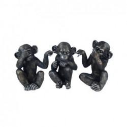 Figura Resina x3 Orangutan Budista 14 cm