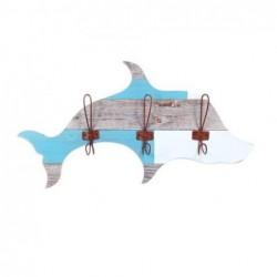 Percha Pared MAdera 3 Pomos Tiburon 73 cm