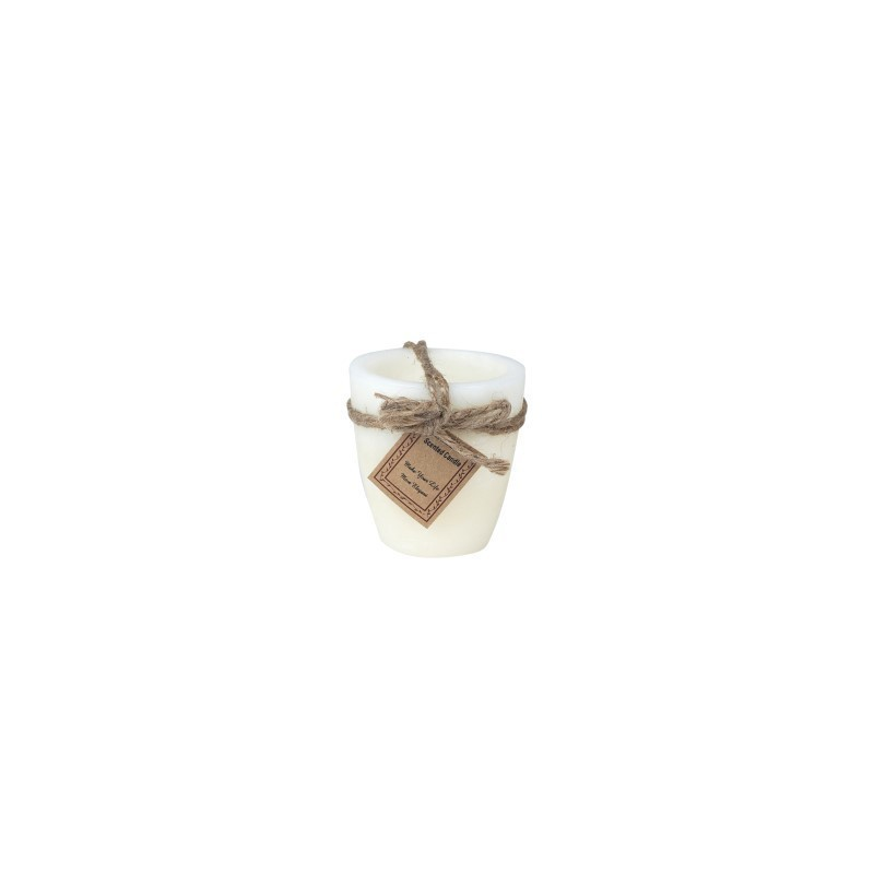 Vela Rustic Marfil 8 cm