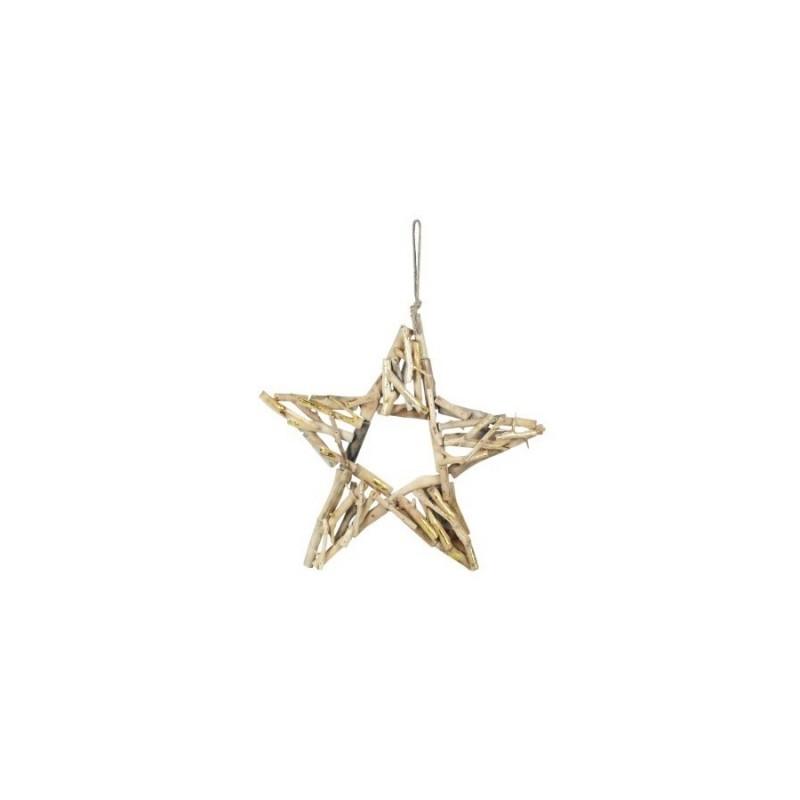 Adorno Colgante Estrella Madera 50 cm