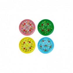 Bandeja REdonda x4 Colores 33 cm