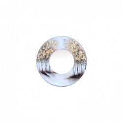 Espejo Pared Circular Arboles 80 cm