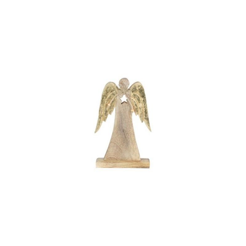 Figura Decorativa Angel Madera 25 cm