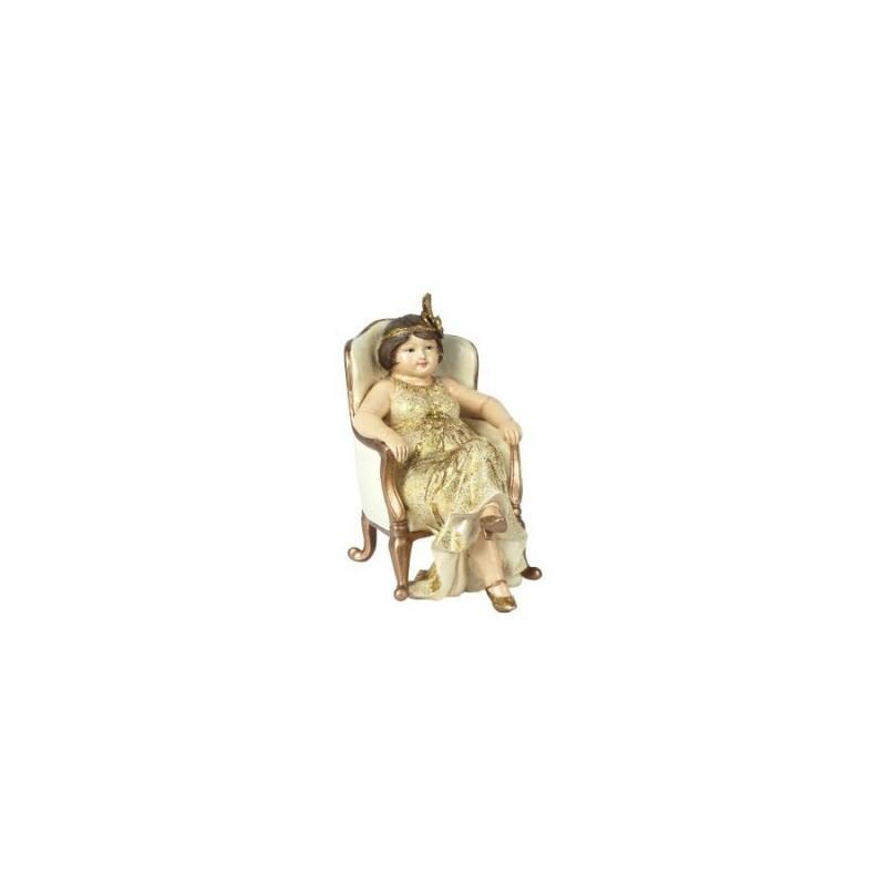 Figura Decorativa Mujer Vestido 16 cm
