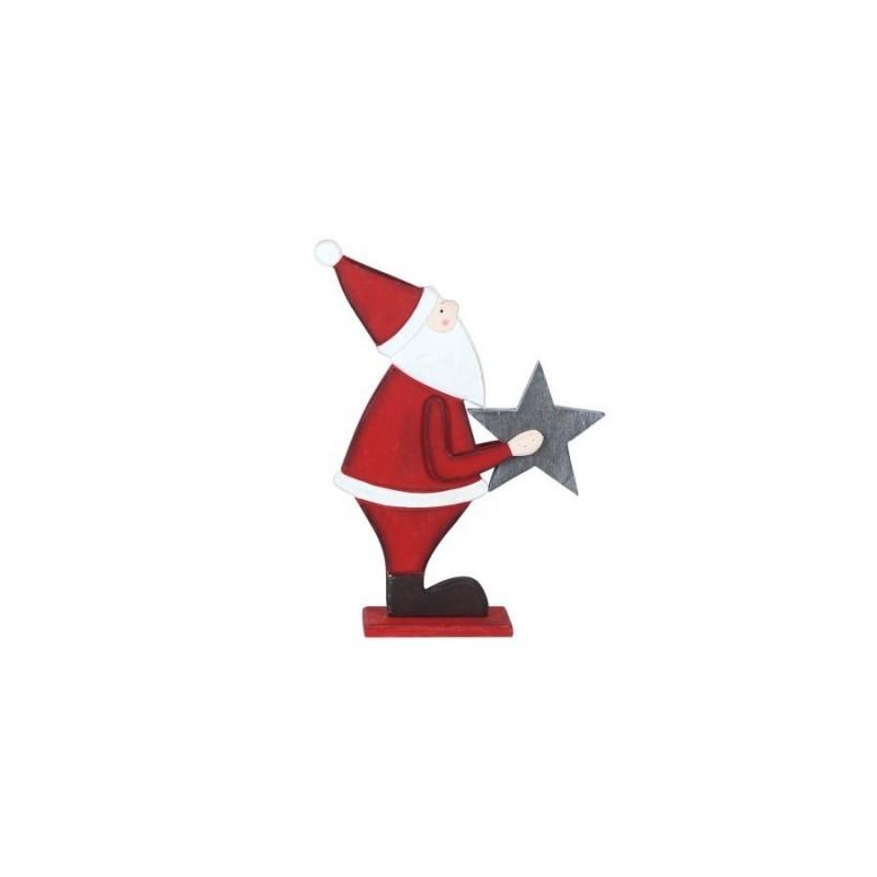 Figura Decorativa Papa Noel 26 cm