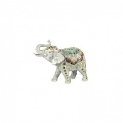 Figura Decorativa Resina Elefante 28 cm