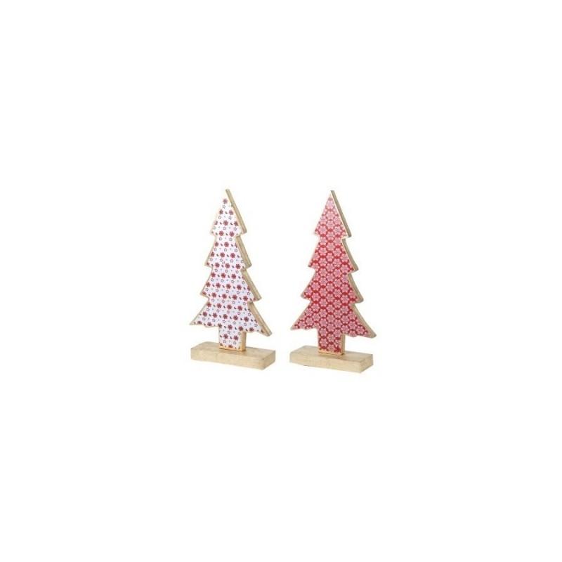Figura Decorativa x2 Arbol Navidad 31 cm