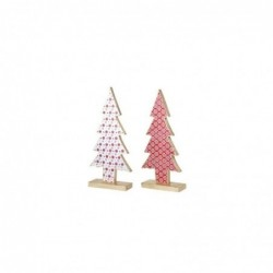 Figura Decorativa x2 Arbol Navidad 41 cm