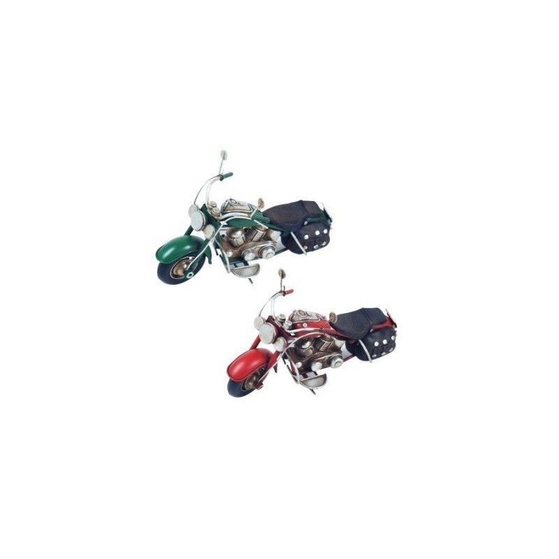Figura Decorativa x2 Motos 18 cm