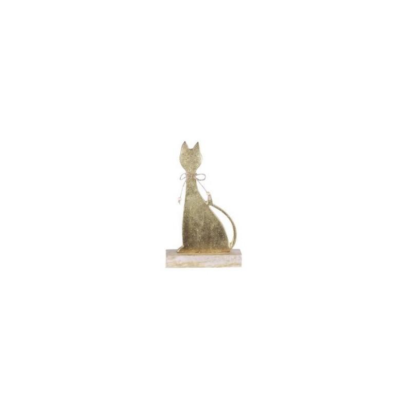 Figura Madera Gato 21 cm