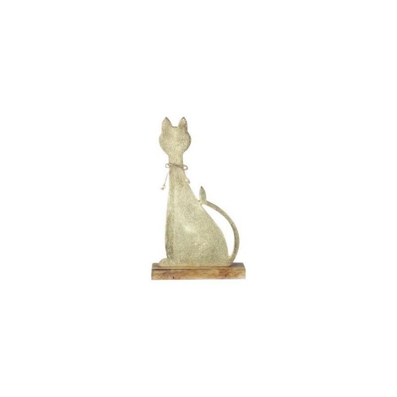 Figura Madera Gato 30 cm