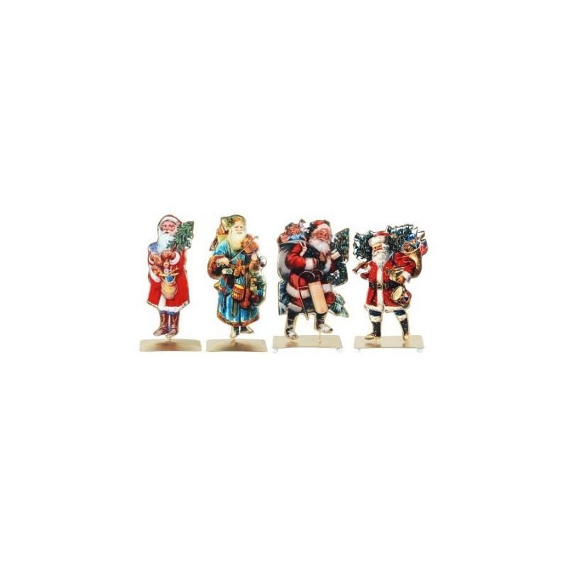 Figura Metal x4 Papa Noel 11 cm