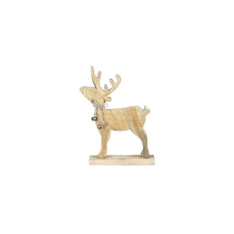 Figura Reno Madera 30 cm