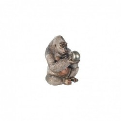 Figura Resina Gorila Con Craneo 44 cm