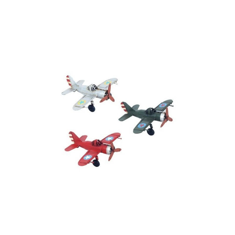Figura X3 Avion Metal 15 cm