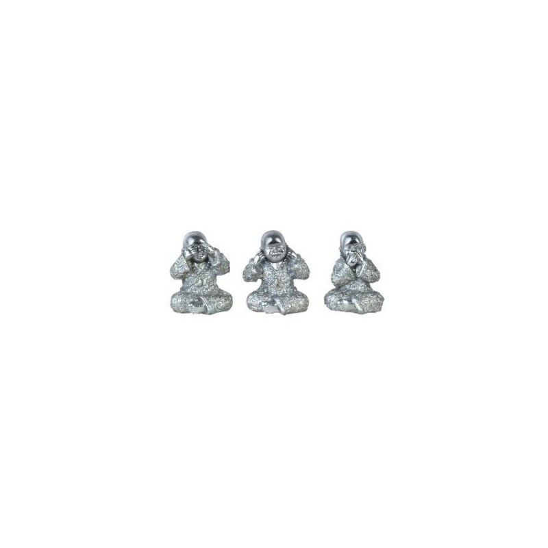 Figura x3 Monjes Budistas 7 cm