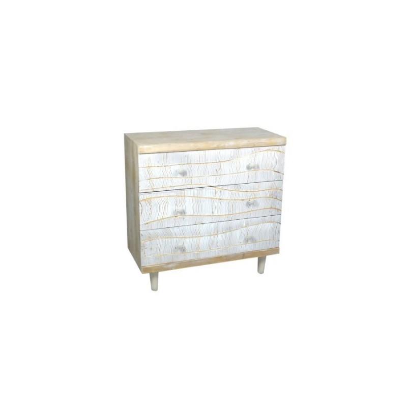 mueble 3 cajones madera 80 cm
