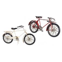 Figura Metal Bicicleta Roja 30 cm