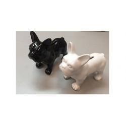 Hucha Resina Perro French Bulldog Negro 17 cm