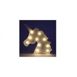 Lampara Ambiente Led Unicornio Infantil 26 cm