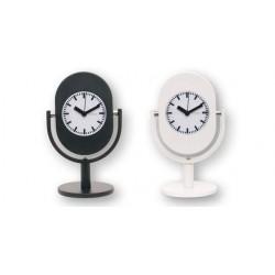 Reloj Despertador Analogico Negro Forma Microfono 16 cm