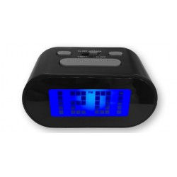 Reloj Despertador Digital Negro LED Plastico 11 cm