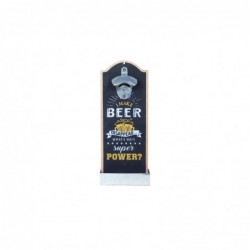 Abridor de Botellas Beer Madera Retro Azul 30 cm