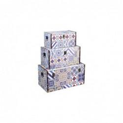 Baul Set 3 Unidades DM Mosaico 60 cm