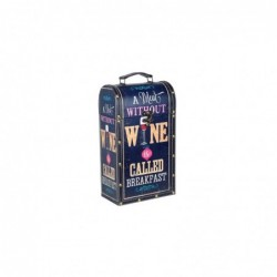 Botellero Vino Retro Polipiel 36 cm