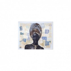 Cuadro Lienzo con Bastidor Madera Africanq 80x100 cm