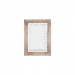 Espejo Decorativo de Pared Madera 80x60 cm