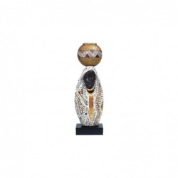 Figura Decorativa Africana Resina 45 cm
