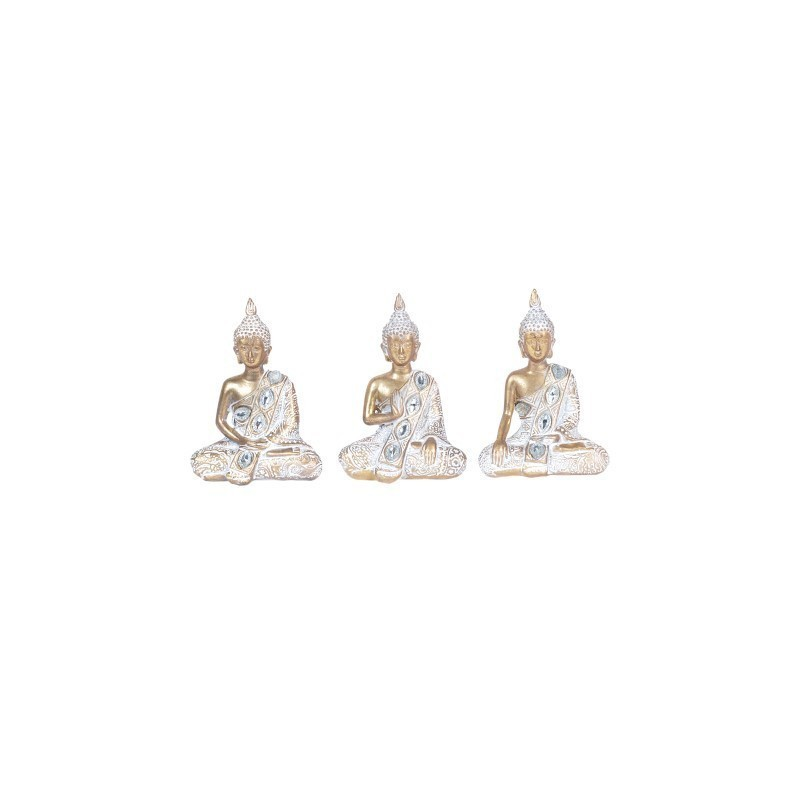 Figura Decorativa Buda x3 Unidades 13 cm