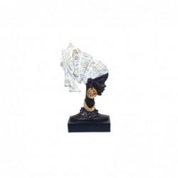 Figura Decorativa Cabeza Africana 33 cm