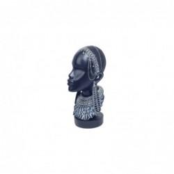 Figura Decorativa Cabeza Africana Resina 27 cm