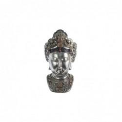 Figura Decorativa Cabeza Buda Resina 60 cm