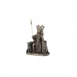 Figura Decorativa Clasica ODIN sentado en Trono Resina 21 cm